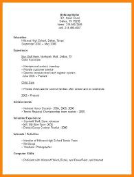 High School Student Resume Examples First Job Filename Msdoti69