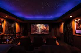home theater ceiling lighting. Cal Home Theater Showing Night Sky Mural And Movie Logo Ceiling Lighting E
