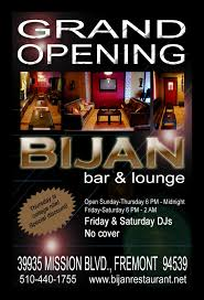 bar grand opening flyer grand opening flyer bijan restaurant