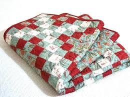 Red Quilt Twin Patchwork Quilt Chain Twin Quilt Bedding Red Aqua ... & red quilt twin patchwork quilt chain twin quilt bedding red aqua red white  and blue bedding Adamdwight.com