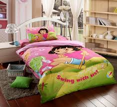 get ations dressed up cartoon cotton three dormitory suite cotton bedding a family of four cute dora