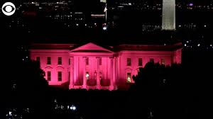 Red Lights White House Web Extra White House Lights Up Pink