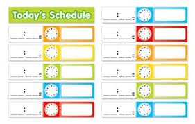 Scholastic Daily Schedule Pocket Chart Scholastic Teachers Friend Schedule Cards Pocket Chart Add Ons Multiple Colors Chart Not Included Tf5405