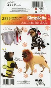 Dog Costume Patterns Enchanting Simplicity 48 Dog Costume Pattern Elvis Lion Bumble Bee And Cow