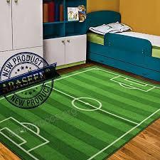 baby kids football field play mat medium small large soft football carpet rug 80x120cm