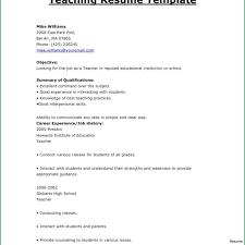 Resume Format For Teachers In Word Format Fresher Resume Doc
