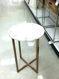 gold accent table metal marble end target foil lamp round side