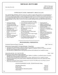Resumes For Construction Best Project Manager Resume Construction Resume Format Construction
