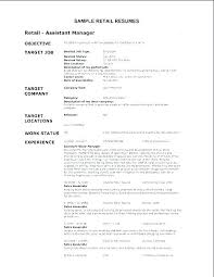 2 Page Resume Sample Fascinating Retail Jobs Resume Examples Objective Example Samples For R