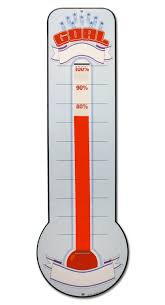 Buy Dry Erase Fundraising Goal Thermometer In Cheap Price On