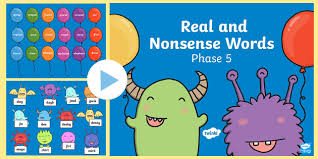 Students look at the pictures and circle the correct word. Ks1 Phase 5 Phonics Real And Nonsense Words Powerpoint