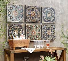 Tips for installing your wall mural. Sahara Printed Wood Tiles Wall Art Set Of 3 Wall Decor Pottery Barn
