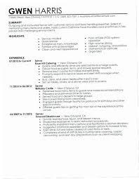 Waitress Resume Examples Gorgeous Server Skills For Resume 28XB28 Resume Waitress Resume Examples