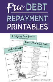 Free Printable Debt Free Charts Free Debt Repayment Printables Debt Free Forties