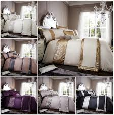 glamorous sequin fancy designer panel duvet quilt cover luxury bedding set