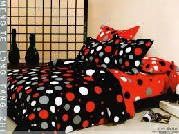 red gray black polka dot queen bedding duvet covers set