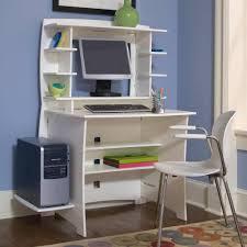 white small desk hutch