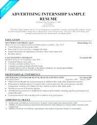 Sample Intern Resume Wikirian Com