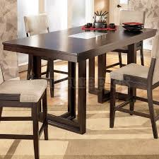 Contemporary Dining Room Decor With Ocean Park Dark Brown Counter Gorgeous Dining Room Table Height Decor