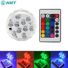 A Small Underwater Pool Light Is 1 M 50pcs 10w Swimming Pool Light Led Underwater Light Rgb Submersible Light Battery Operated Ip67 Waterproof Lamp For Wedding Party