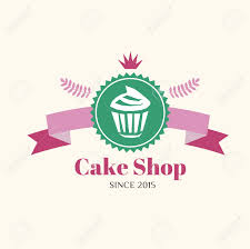 Abstract Vector Cake Vintage Logo Element Cakes Bread Bakery