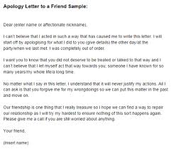 apology letter friend
