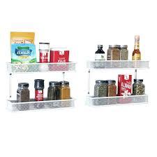 2 tier countertop and wall mount multipurpose e rack organizer white
