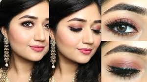 indian makeup tutorial natural rosy brown makeup clista you