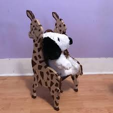 wooden giraffe toddler chair vintage nursery furniture zoo