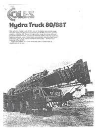 Coles 25 Ton Crane Load Chart Truck Cranes Coles Specifications Cranemarket