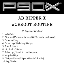 the plete guide to p90x ab ripper x the only one missing is 11