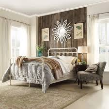 white metal queen bed. Beautiful Queen HomeSullivan Calabria White Queen Bed Frame Throughout Metal H