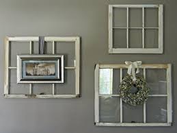 decorative wall decor ideas for old window panes from wood with old window wall hanging
