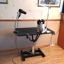 grooming table arm dog diy
