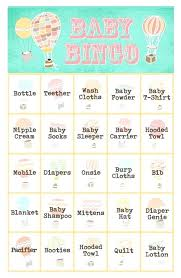 Unique Baby Shower Games For Girl Sets Of Free Bingo Cards – Baby ...