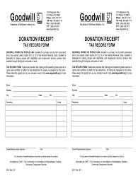 Receipt Builder Goodwill Donation Receipt Fill Online Printable Fillable