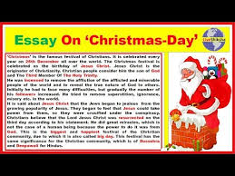 Christmas Day Essay Essay On Christmas In English Christmas Day Essay In