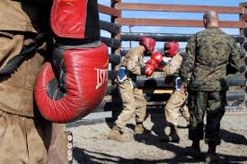 photos recruits of platoon 2111 company e 2nd recruit training battalion face off