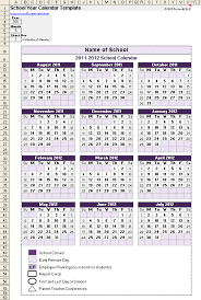 Printable School Year Calendars School Calendar Template 2019 2020 School Year Calendar
