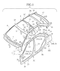 Patent ep1149757a2 car body assembling method and body structure