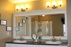 trim around bathroom mirror. Full Of Great Ideas: How To Upgrade Your Builder Grade Mirror - Frame It! Trim Around Bathroom