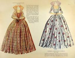 notice that paper facsimiles of these late eighth and early nineth century gowns have two unwieldy tabs to secure them to the dolls shoulders