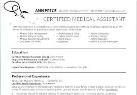 Resume Examples For Medical Assistant Cool Medical Assistant Objective Sample Medical Assistant Resumes Samples