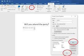 How to Create a Fillable Form in Word for Windows