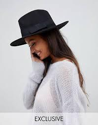 My Accessories Black Adjustable Fedora hats | Womens \u0026 Brown Felt ASOS