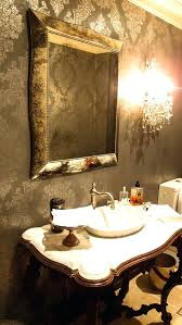 small crystal chandeliers for bathrooms small crystal chandelier powder room eclectic with bathroom wallpaper image by