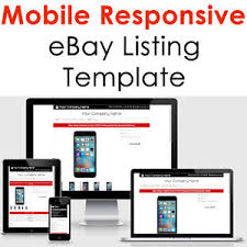 Listing Template Template Ebay Listing Auction 2019 Html Design Responsive