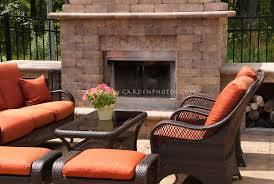 outdoor fireplace fire pit on patio with furniture makes for a sense of an outside living