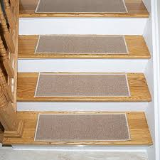 ottomanson skid resistant rubber backing non slip carpet stair treads machine washable area rug set of 7 8 5 x 26 5 dark beige