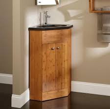 Wooden Corner Bathroom Cabinet Bathroom Best Wooden Corner Bathroom Vanity With Sink And